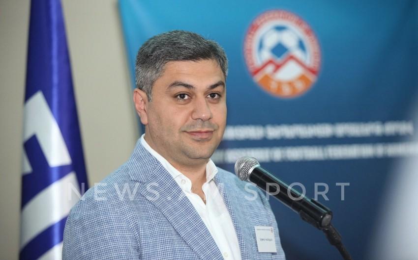 Ermənistan Futbol Federasiyasına yeni prezident seçilib