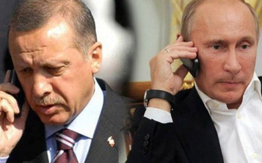 Putin və Ərdoğan Suriyadakı vəziyyəti və Kerç boğazındakı insidenti müzakirə edib