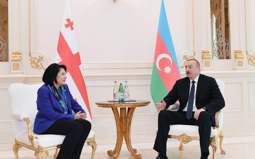 İlham Əliyev Gürcüstan Prezidentinə başsağlığı verib