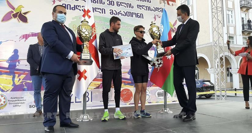 Tbilisi-Rustavi marathon dedicated to Independence Day of Azerbaijan ends