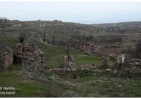 Видеокадры из села Сараджыг Физулинского района