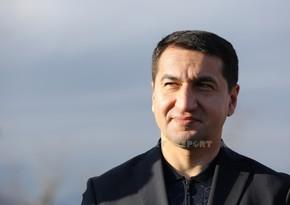 Prezidentin köməkçisi: İranla dağıdılmış kommunikasiya xətlərininbərpasına baxıla bilər