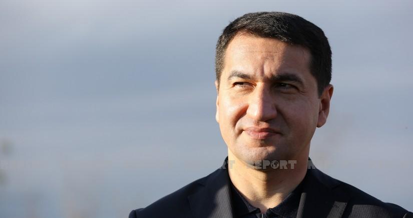 """Hikmət Hacıyev: """"Prezidentin münaqişədən sonrakı yenidənqurma-bərpa layihələri misilsizdir"""""""