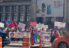 Азербайджанцы в Ванкувере выразили протест армянской провокации