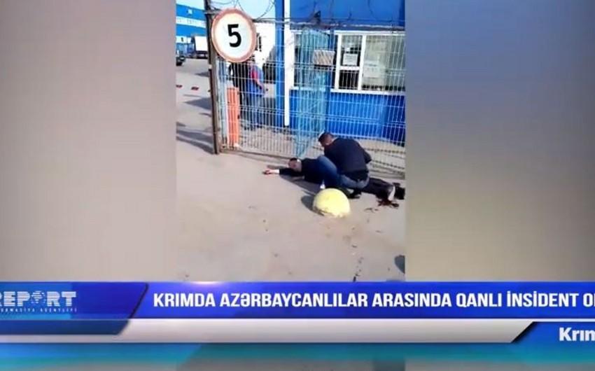 Simferopolda azərbaycanlı öz həmyerlisini qətlə yetirib - VİDEO