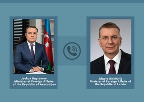 Foreign Ministers of Azerbaijan and Latvia hold telephone conversation