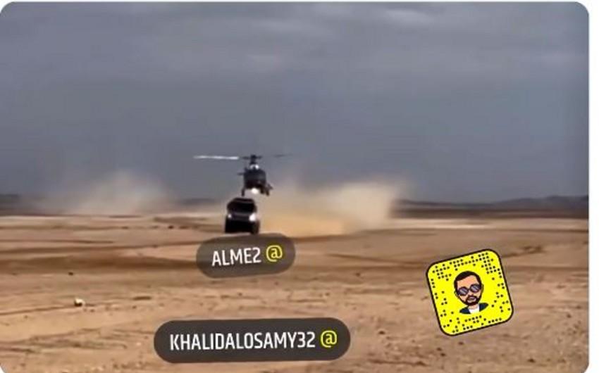 """""""Kamaz"""" helikopterlə toqquşub"""