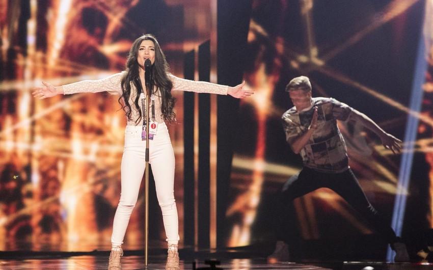 Səmra Rəhimli Stokholmda Eurovision səhnəsində ilk məşqini keçirib - FOTO