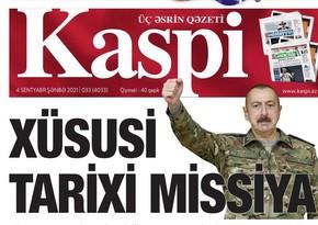 Azerbaijan's oldest newspaper Kaspiy now in new format
