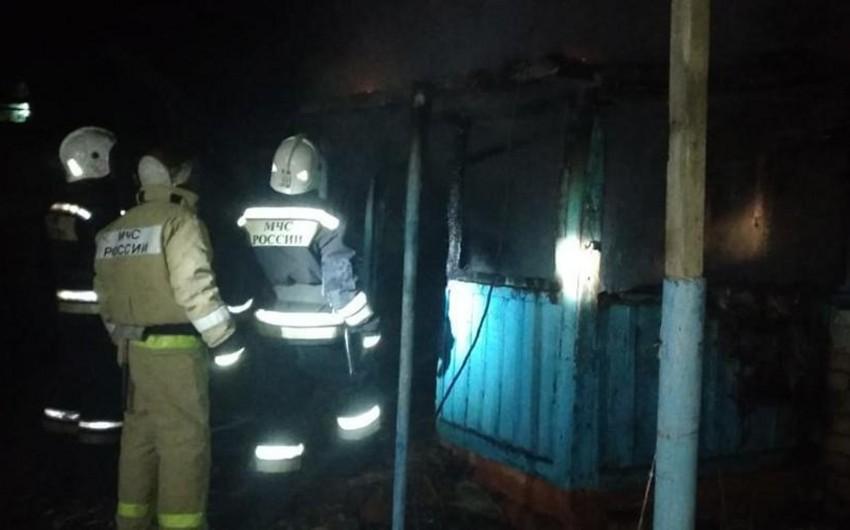 Stavropol diyarında baş verən yanğında dörd nəfər ölüb