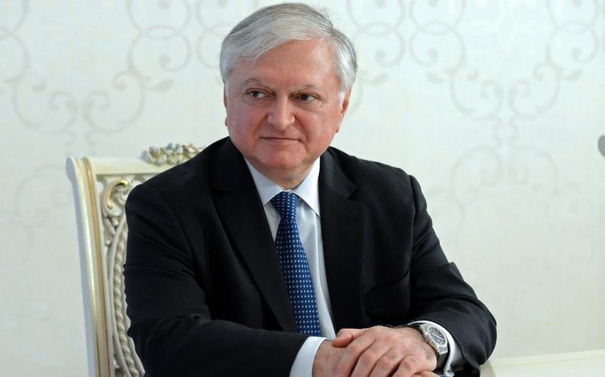 Edvard Nalbandyan Hamburqda Elmar Məmmədyarovla görüşəcəyini istisna etməyib
