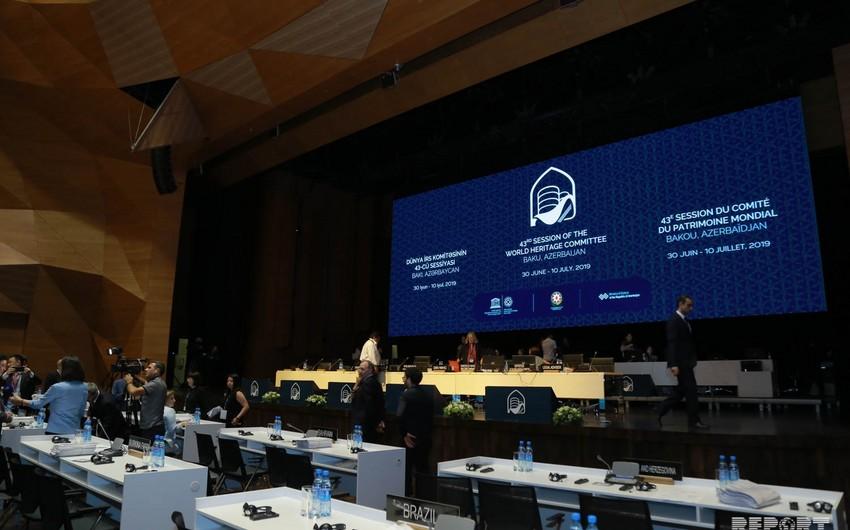 UNESKO-nun Ümumdünya İrs Komitəsinin 43-cü sessiyasında milli mülkiyyətlərə aid məsələlər müzakirə edilib