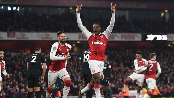 Арсенал победил Вест Хэм и вышел в полуфинал Кубка лиги - ВИДЕО