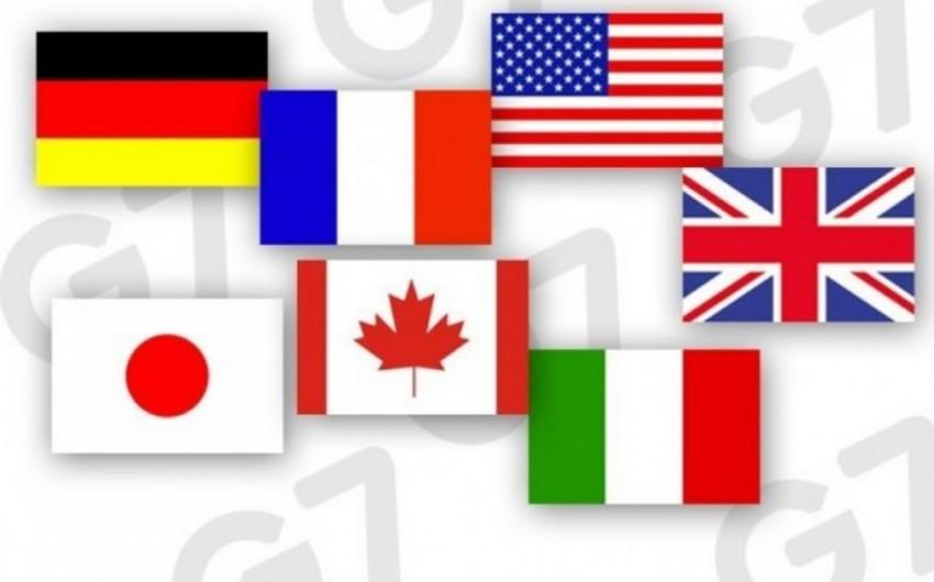 G7 ölkələri iqtisadi vəziyyətlə bağlı xəbərdarlıq edib