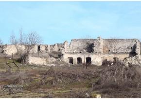 Ermənilərin dağıtdığı daha bir kəndin görüntüləri