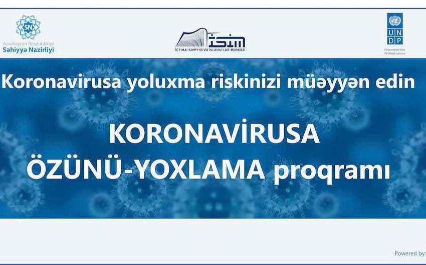 """""""Koronavirusa görə özünü yoxla"""" proqramı istifadəyə verildi"""