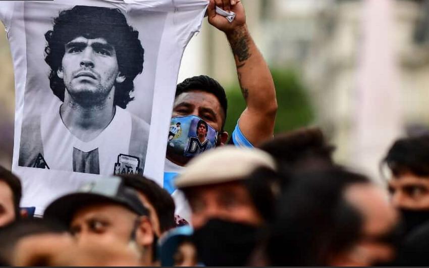 """Argentinada """"Maradona ölmədi, onu öldürdülər"""" şüarı ilə aksiya keçirildi"""