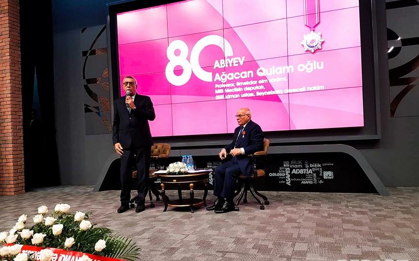 Ağacan Abiyevin 80 illik yubileyi keçirilib
