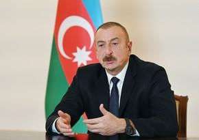 Prezident İlham Əliyev: Bu gün baş verənlər Paşinyanın təhlükəli fəaliyyətinin nəticələridir