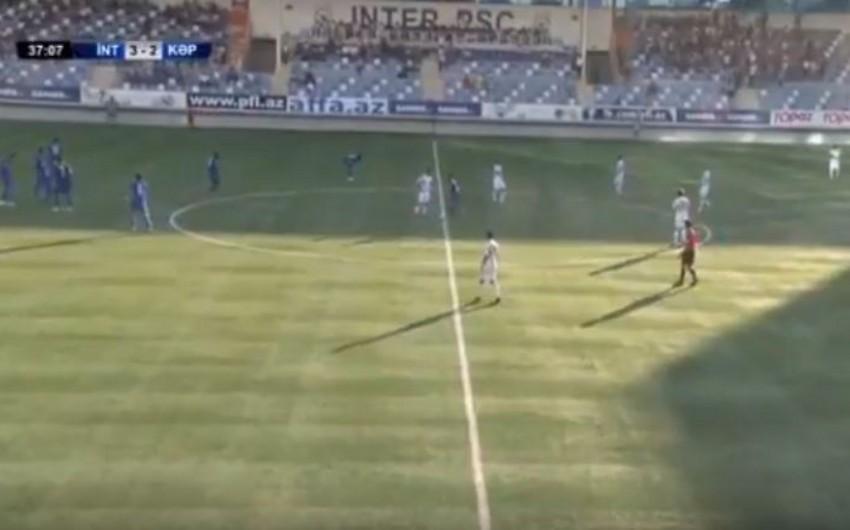 Azərbaycan Premyer Liqasının oyunu zamanı 65 metrdən qol vurulub