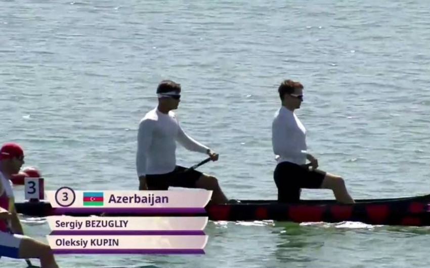 Azərbaycanın kanoeçi dueti Avropa Oyunlarının finalına yüksəlib