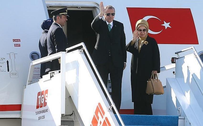 Türkiyə Prezidenti Rusiyaya yola düşüb