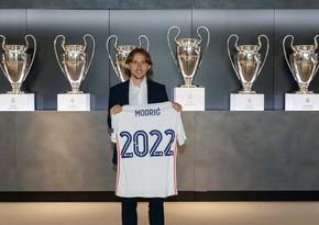 Real Madrid Modriçlə yeni müqavilə imzaladı