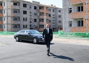 Prezident Samuxda məcburi köçkünlər üçün tikilən yaşayış məhəlləsi ilə tanış olub - YENİLƏNİB