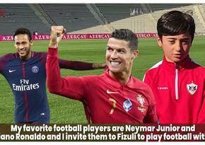 Azərbaycanlı azyaşlı futbolçular Ronaldu, Neymar və Salahı Qarabağa çağırdılar