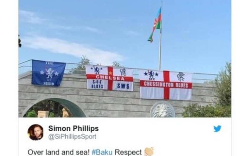 What do Chelsea and Arsenal fans write about Baku and final in social media?