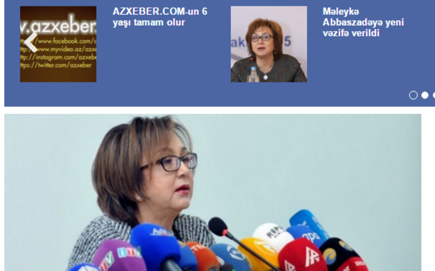Azxeber.com informasiya portalının 6 yaşı tamam olur