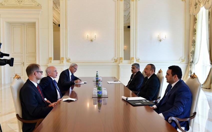 Prezident İlham Əliyev İsveçrə Konfederasiyasının nümayəndə heyətini qəbul edib
