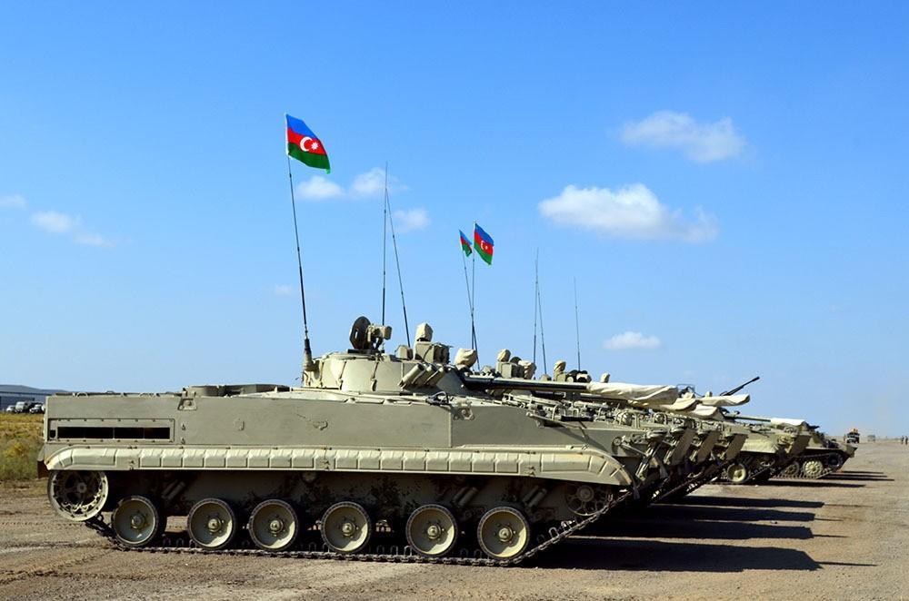 IFV crews of Azerbaijani army conduct combat firing - VIDEO