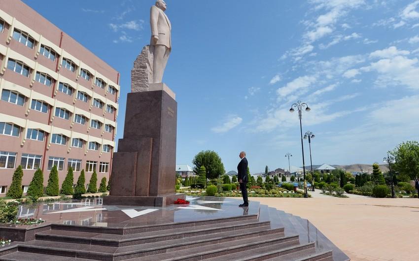 Президент Азербайджана Ильхам Алиев прибыл в Гейгельский район