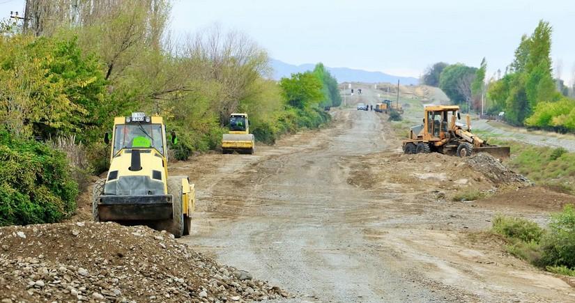 Suqovuşan və Talış kəndlərinə gedən tarixi yolların bərpasına başlanılıb