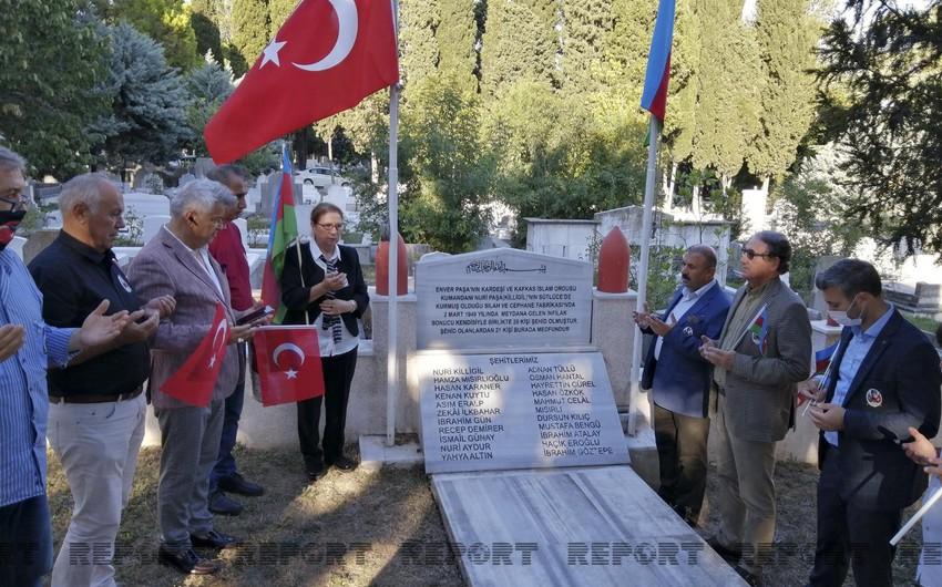 İstanbulda Nuru Paşanın məzarı ziyarət olunub