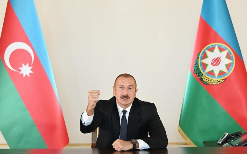 Prezident: Bu gün Azərbaycan Ordusu düşmənə sarsıdıcı zərbələr endirir