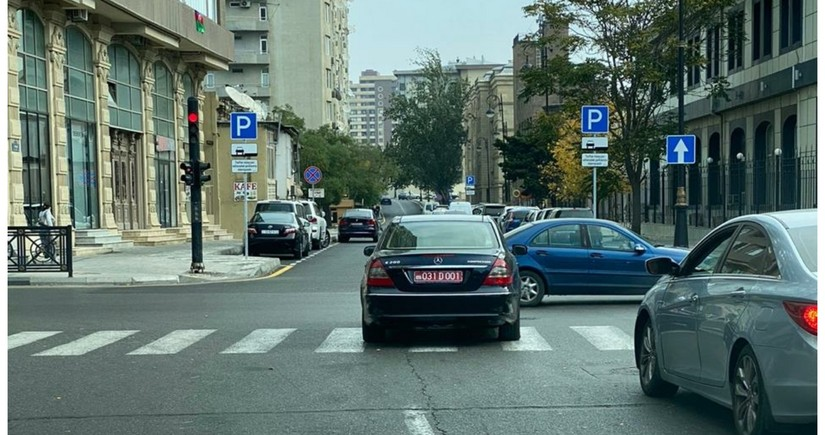 Reckless driver of embassy car in Baku