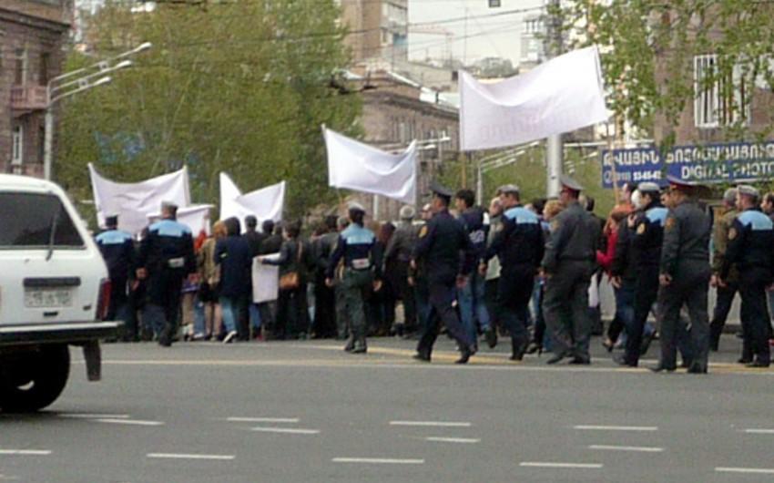 Yerevanda Rusiya əleyhinə etiraz aksiyası keçirilir