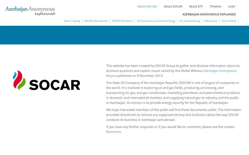 SOCAR Global Witness təşkilatının iddialarına tutarlı cavab verdi
