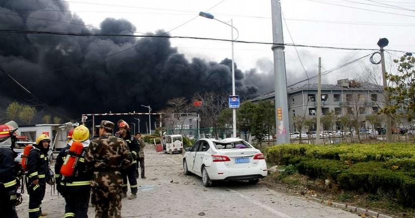 Взрыв на ремонтном заводе в Китае, есть погибший и раненые