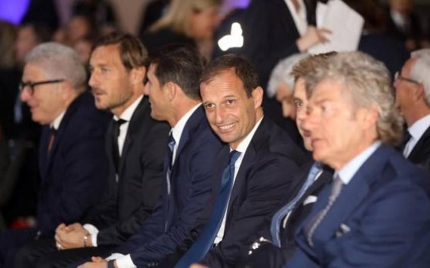 Аллегри, Тотти и Дзанетти вошли в Зал славы итальянского футбола
