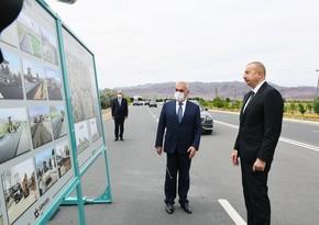 İlham Əliyev Culfa-Ordubad magistral avtomobil yolunun açılışında iştirak edib - YENİLƏNİB