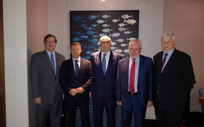 Эльмар Мамедъяров встретился с сопредседателями Минской группы ОБСЕ в Нью-Йорке