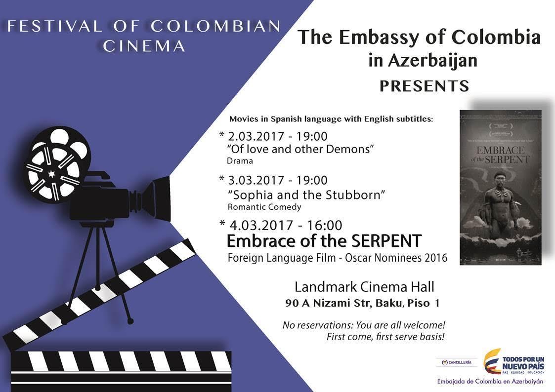 Baku will play host to Columbian film festival
