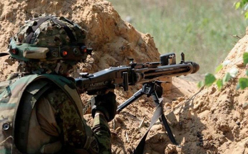 Armenians fired Azerbaijani positions using large caliber machine guns