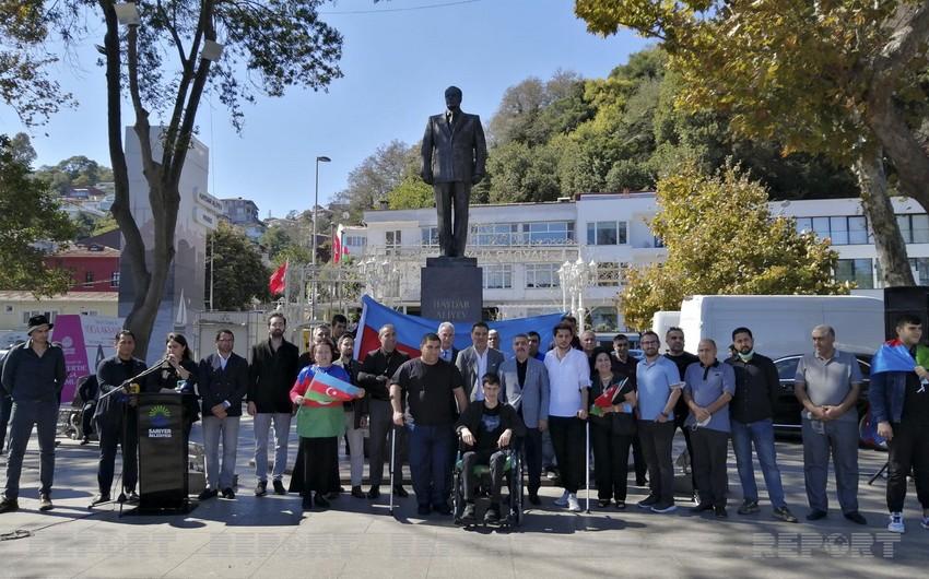В Стамбуле почтили память шехидов Отечественной войны