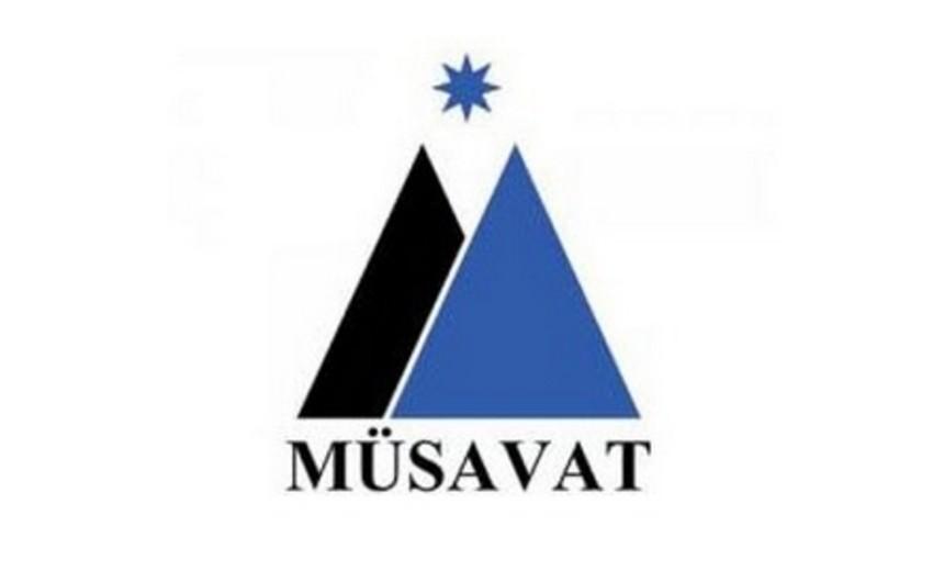 Müsavat Partiyasının Divanı mitinqlə bağlı qərar qəbul edəcək