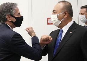 Mövlud Çavuşoğlu ilə ABŞ-ın dövlət katibi ilə görüşüb