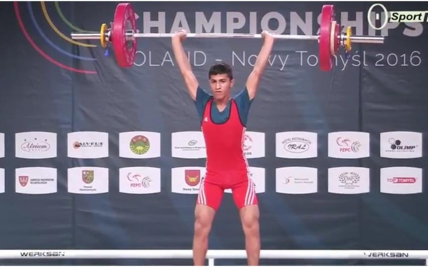 Azərbaycanın daha bir ağır atleti Avropa üçüncüsü olub